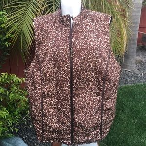New Reversible Brown Thin Puffy Vest size 30/32